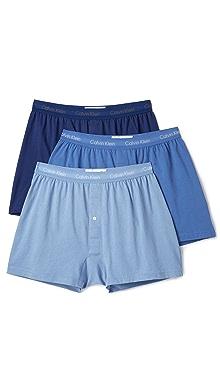 캘빈 클라인 Calvin Klein Cotton Classic 3 Pack Knit Boxers