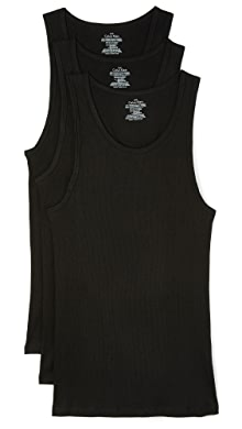 캘빈 클라인 Calvin Klein Cotton Classic 3 Pack Ribbed Tanks