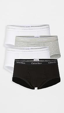 캘빈 클라인 Calvin Klein Brief 4 Pack,Grey Heather/White/Black
