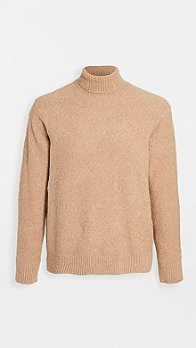 클럽 모나코 Club Monaco Boucle Turtleneck Sweater,Camel