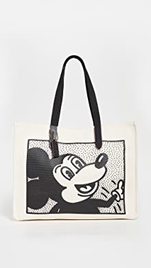 코치 뉴욕 X 디즈니 키스 해링 토트백 COACH New York x Disney Keith Haring Tote 42,Chalk Multi