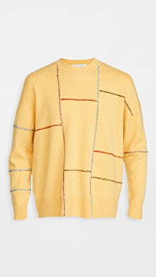 J.W. Anderson Patchwork Darning Sweater,Yellow