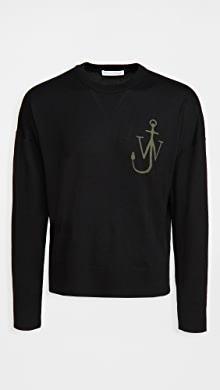 J.W. Anderson Anchor Crew Neck Sweater,Black