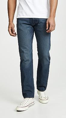 Levis Original Fit 501 Denim Jeans,Blue Warp