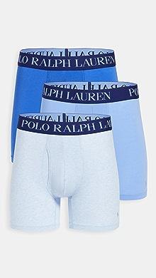 폴로 랄프로렌 Polo Ralph Lauren Underwear 3 Pack 4D-Flex Lightweight Boxer Briefs,Elite Blue