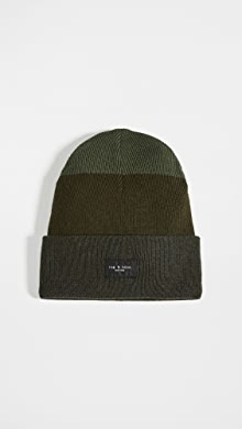 랙앤본 Rag & Bone Addison Striped Beanie,Army Green Combo