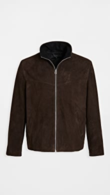랙앤본 Rag & Bone Suede Grant Jacket,Dark Brown