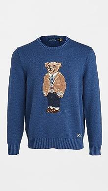폴로 랄프로렌 Polo Ralph Lauren Cotton Long Sleeve Sweater,Navy Heather