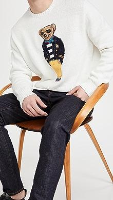 폴로 랄프로렌 Polo Ralph Lauren Polo Bear Crew Neck Sweater,White