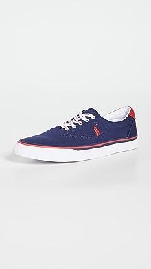 폴로 랄프로렌 Polo Ralph Lauren Thorton Sneakers,Newport Navy/Red