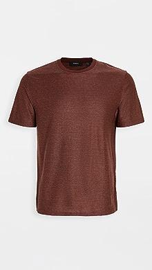 띠어리 Theory Milan T-Shirt,Pimento/White Pink