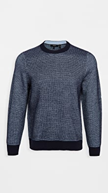 띠어리 Theory Boland Donegal Cashmere Crew Neck Sweater,Baltic Multi