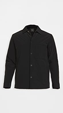 띠어리 Theory Walker Lightweight Shirt Jacket,Black