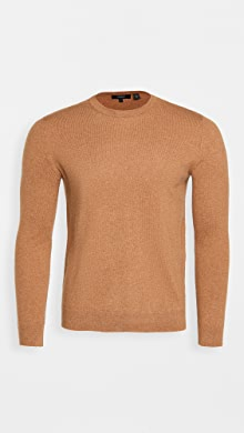 띠어리 Theory Hilles Cashmere Crew Neck Sweater,Camel