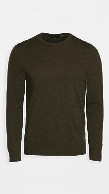 띠어리 Theory Hilles Cashmere Crew Neck Sweater,Grove Melange