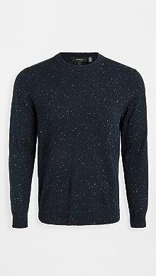 띠어리 Theory Donegal Cashmere Crew Neck Sweater,Baltic Multi
