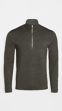 띠어리 Theory Merino Wool Quarter Zip Sweater,Grove Multi