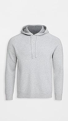 띠어리 Theory Lounge Montano Wool Sweater,Lt Grey/Grey Melange