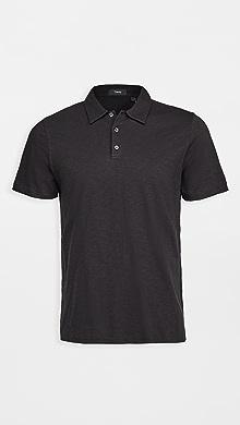 띠어리 Theory Bron Cosmos Polo Shirt,Black