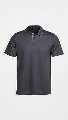 띠어리 Theory Current Pique Standard Polo Shirt,Charcoal/Dove
