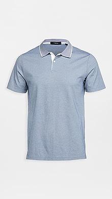 띠어리 Theory Current Pique Standard Polo Shirt,Cy/White