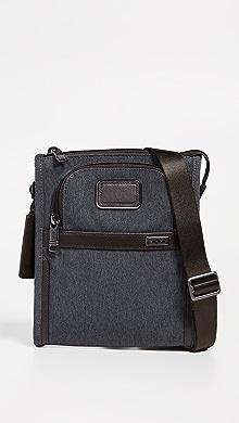 투미 Tumi Alpha Small Pocket Bag,Anthracite
