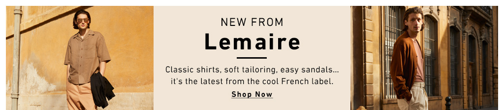 Shop Lemaire.Classic shirts, tailered looks from the French label.
