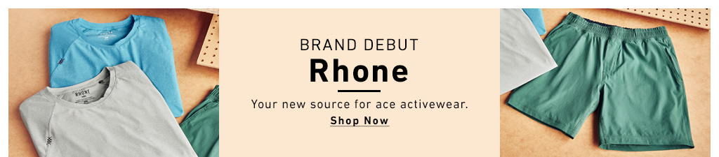 Shop Rhone. Your new source of activewear.