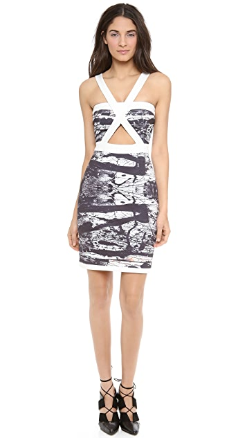 Angelys Balek Print Dress with Cutouts