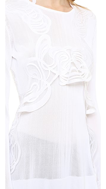 Antonio Berardi Lace Trim Lop Top