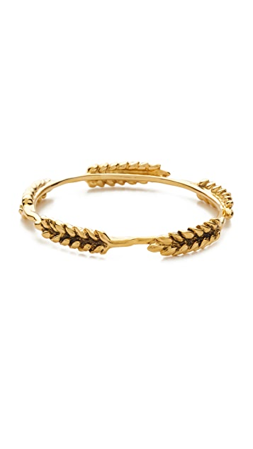Aurélie Bidermann 5 Wheat Cobs Bracelet in 18K Gold-Plated Brass BifC42