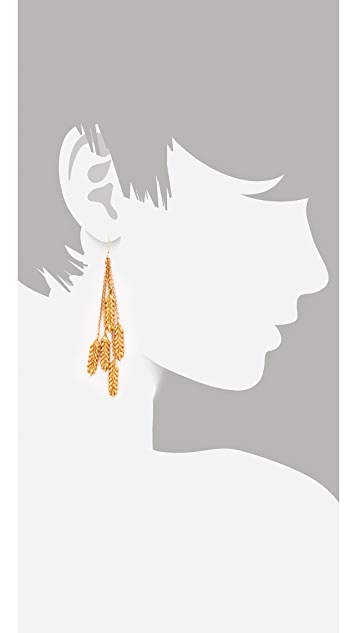 Aurelie Bidermann Wheat Pendant Earrings