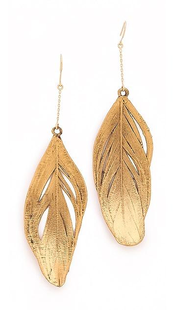 Aurelie Bidermann Swan Feather Earrings