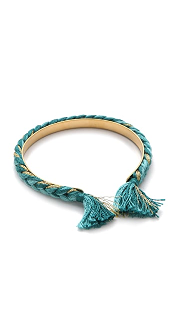 Aurelie Bidermann Copacabana Bangle with Cotton Thread