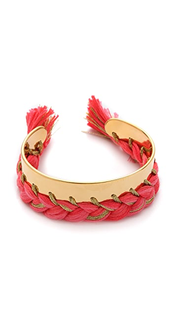 Aurelie Bidermann Copacabana Bracelet with Single Braided Thread