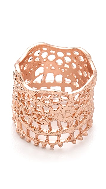 Aurelie Bidermann Vintage Lace Laser Cut Ring