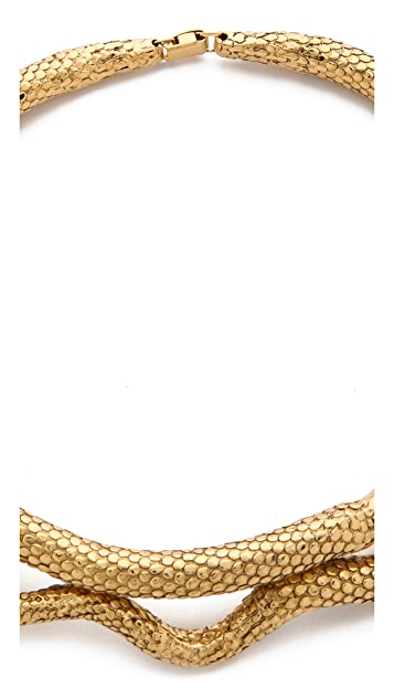 Aurelie Bidermann Gold Articulated Snake Necklace