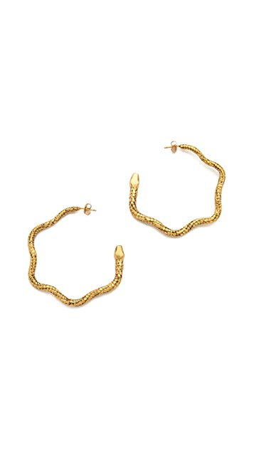 Aurelie Bidermann Snake Hoop Earrings