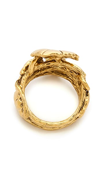 Aurelie Bidermann Nympheas Leaves Ring