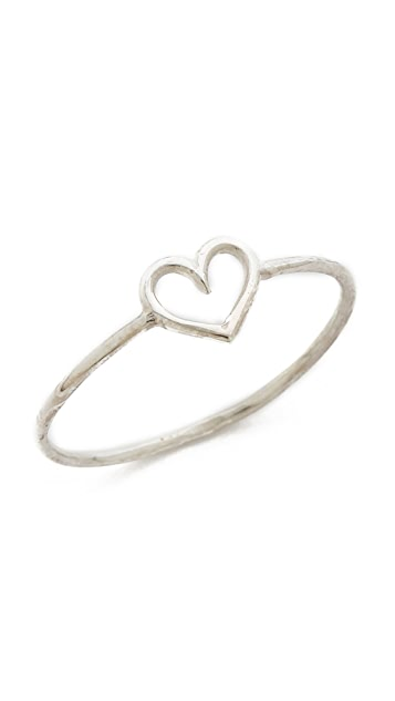 Aurelie Bidermann 750 Sterling Silver Love Ring