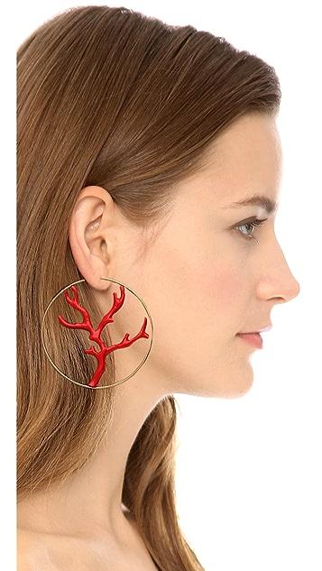 Aurelie Bidermann Capri Hoop Earrings