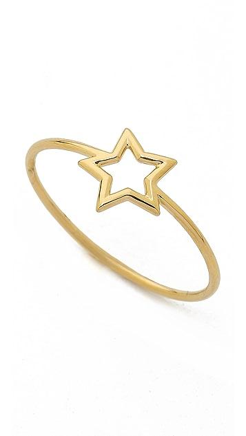 Aurelie Bidermann Thin Gold Star Ring