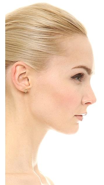 Aurelie Bidermann Diamond Love Earrings