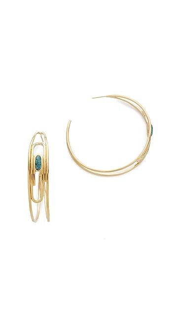 Aurelie Bidermann Angelica Hoop Earrings