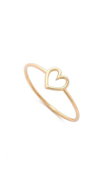 Aurelie Bidermann Fine Jewelry 18k Gold Love Ring