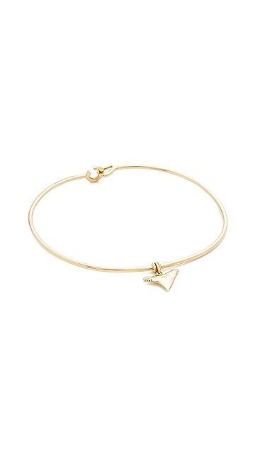 Aurelie Bidermann Fine Jewelry 18k Gold Shark Tooth Bracelet