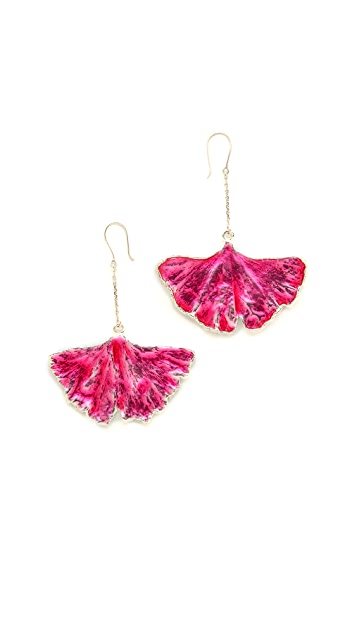 Aurelie Bidermann Fine Jewelry Ginkgo Leaf Earrings