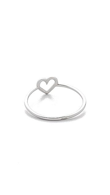 Aurelie Bidermann Fine Jewelry 750 Sterling Silver Love Ring