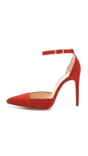 Alexandre Birman Fifi Ankle Tie Pumps