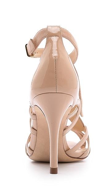 Alexandre Birman Suede & Patent Strappy Sandals